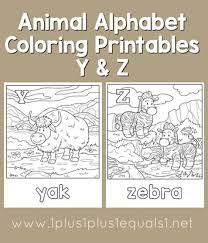 Animal Alphabet Coloring Printables Y And Z
