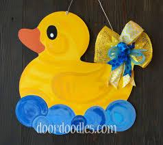Mardi Gras Wooden Door Decorations by Rubber Ducky Door Hanger Baby Shower Birth Announcement Hospital