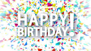 Happy Birthday White Sign With Falling Colorful Confetti Animation White Background Stock Footage Video