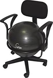 amazon com cando metal ball chair 22 with arms industrial
