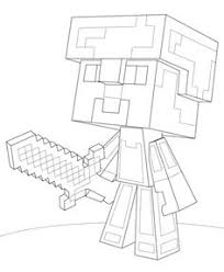 Minecraft Steve Diamond Armor Coloring Page From Category Select 21842 Printable Crafts Of