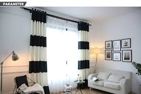 Black And White Striped Curtains by New Mediterranean Black And White Striped Curtains Polyester 85