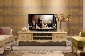 TV Stand Price Neo Classical Wooden Furniture Living Room China Supplier FTV 101