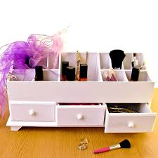 Desk Drawer Organizer Uk by Wooden Desk Tidy Caddy With Three Drawers And 13 Organiser