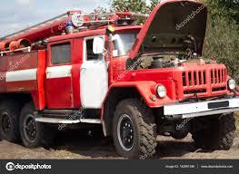100 Old Fire Truck Old Fire Truck On Training Stock Photo VAKSMANV101 142991349