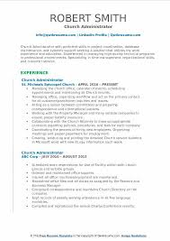 Church Administrator Resume Template