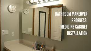 Zenith Medicine Cabinet Replacement Shelves by Bathroom Update Medicine Cabinet Installation Youtube