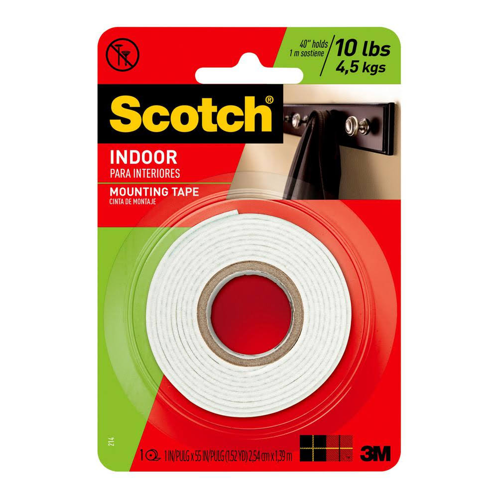 Scotch Indoor Mounting Tape 214/DC