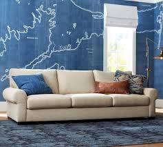 turner roll arm upholstered sofa pottery barn