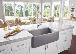Shaws Original Farmhouse Sink by Blanco Ikon Apron Front Sink With New 33