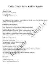 Child Care Resume For A Daycare Job Inside Cover Letter Sample