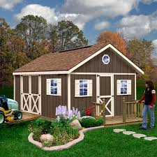 12x16 Gable Shed Materials List by Amazon Com Best Barns Fairview 12 U0027 X 16 U0027 Wood Shed Kit Home