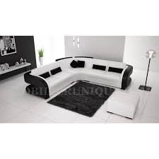 discount canape d angle canapé d angle cuir blanc et noir design pas cher achat vente