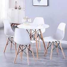 benyled esstisch und 4 esszimmerstühle esszimmermöbel set für zuhause büro küche balkon und garten weiß esstisch und stühle