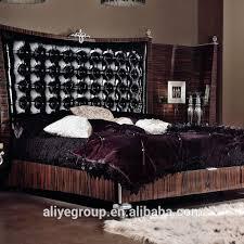 ma21401 china möbel in pakistan schlafzimmer fantastische holz bett schwarz leder bett rahmen buy china möbel in pakistan schlafzimmer schwarz leder