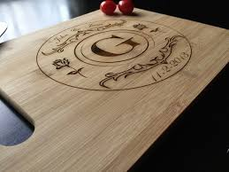 Personalized Laser Engraved Bamboo Cutting Board House Warming Gift Anniversary Wedding