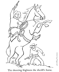 Cowboy Printable Coloring Pages 20