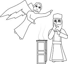 Elizabeth And Zachariah Coloring Page