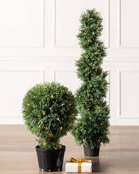 Cypress LED Outdoor Topiary Balsam Hill