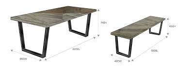 Dining Table Bench Dimensions Room Decor Ideas Renowned Average Height