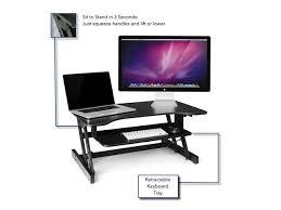 Multiple Monitor Standing Desk by Standing Desk The Deskriser Height Adjustable Sit Stand Up