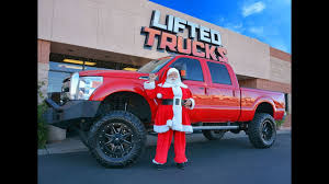 100 Super Lifted Trucks Santa Drives A Ford F250 Duty Truck Happy Holidays And Merry