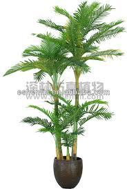 three trunk decoration fan palm tree artificial palm tree fake
