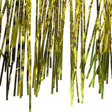 innovative gold shimmer curtains and metallic gold foil fringe