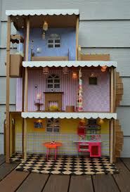 i made a barbie house like this when i was a kid just a cardboard
