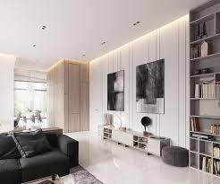 déco canapé noir design interieur deco blanc bois salon design canape noir faux