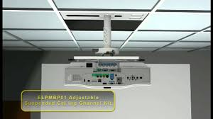 Install Projector Mount Drop Ceiling by Epson Advanced Projector Ceiling Mount With Precision Gear