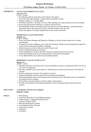 Download Residential Sales Resume Sample As Image File