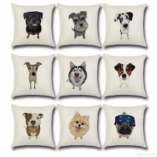 24 X 24 Patio Cushion Covers by Cushion Cover Lovely Cute Pug Dog Pillowcases Cotton Linen Printed