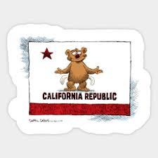 California Bear Pockets Sticker