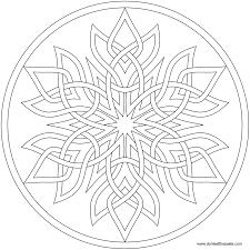 Snowflake Mandala To Color Available In PNG And JPG Format Mandalas ColorFree Coloring