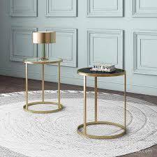 wohnzimmer sofa runde eisen seite tisch schlafzimmer nordic minimalistischen kleine kaffee tisch moderne licht luxus esszimmer ecke tisch