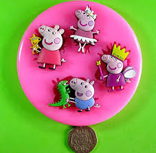 peppa pig princess silicone mould mold for cake