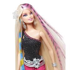 Designer Barbie Dolls Home Barbie Designer Hair Extensions With