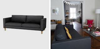 Karlstad Sofa Bed Cover Grey by Black White Yellow The Great Sofa Search Ikea Karlstad