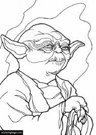 Yoda Star Wars Coloring Page