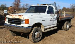 1987 Ford F350 Flatbed Pickup Truck | Item L4920 | SOLD! Dec... Rustfree Oowner 1987 Ford F350 Crew Cab New To Me F150 4x4 Forum 9 Rare Special Edition Trucks Fordtrucks Super Fascating Ford Pickup 4wd Automatic 3speed Original Truck Fseries Sales Brochure 87 Xl Xlt For Sale Classiccarscom Cc11861 Sale In Stony Hill St Andrew Kingston St Andrew 8791 Truck Heater Core Replacement F Series Bricknose F250 Stkd5852 Augator Sacramento Ca F800 Tpi