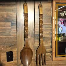 Wooden Fork Spoon Knife Wall Decor by Wooden Spoon And Fork Decor 10001 Wicked Spoon