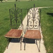 Salterini Iron Patio Furniture by Pair Vintage Antarenni Wrought Iron Dining Chair Salterini Era