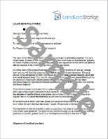 Lease Renewal Letter