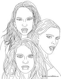 Pictures Of Vampire Coloring Pages