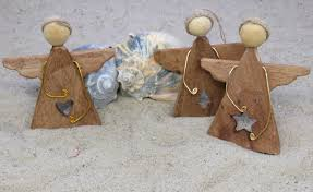 Crab Pot Christmas Trees Obx by Driftwood Angel Ornaments Set Of Three W Cutouts