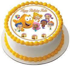 bubble guppies 3 edible cake and cupcake topper edible prints on