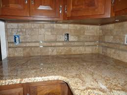 Glass Tiles For Backsplash by Glass Tile Back Splash Grouted Limestone And Glass Backsplash