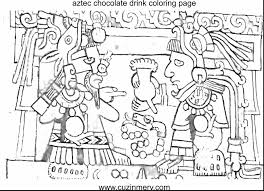 Incredible Mexican Folk Art Coloring Pages With Aztec And Pyramids