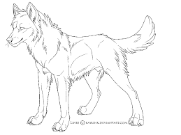 Coloring Pages Wolves 19 Anime Wolfs